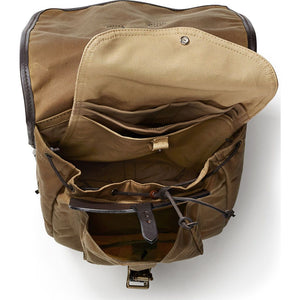 Filson Tin Cloth Backpack Oyster Bamboo Fly Rods