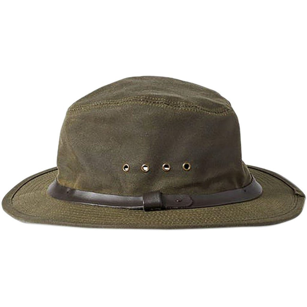 Green Filson Tin Packer Hat Oyster Bamboo Fly Rods