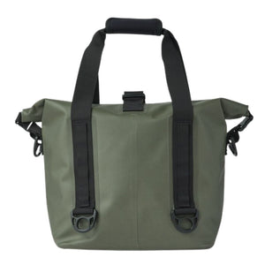 filson dry roll top tote bag oyster bamboo fly rods