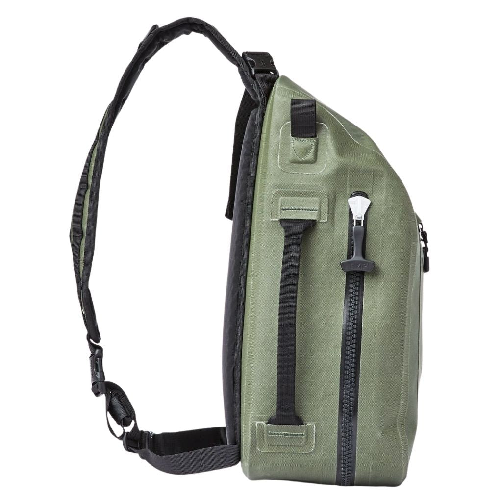 Filson dry sling pack sold at oyster bamboo fly rods