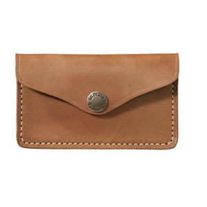 light brown leather filson snap wallet sold at oyster bamboo fly rods
