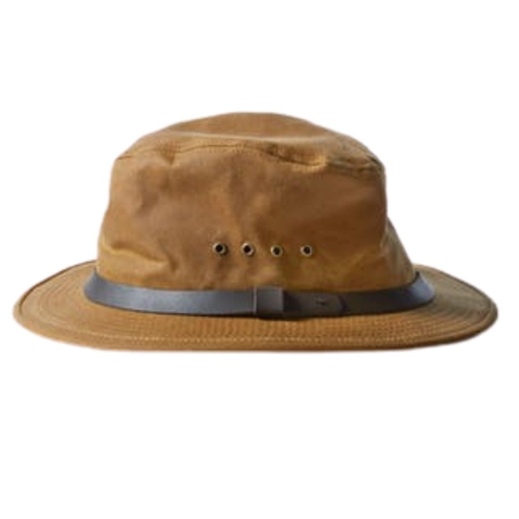 Whiskey Filson Tin Packer Hat Oyster Bamboo Fly Rods