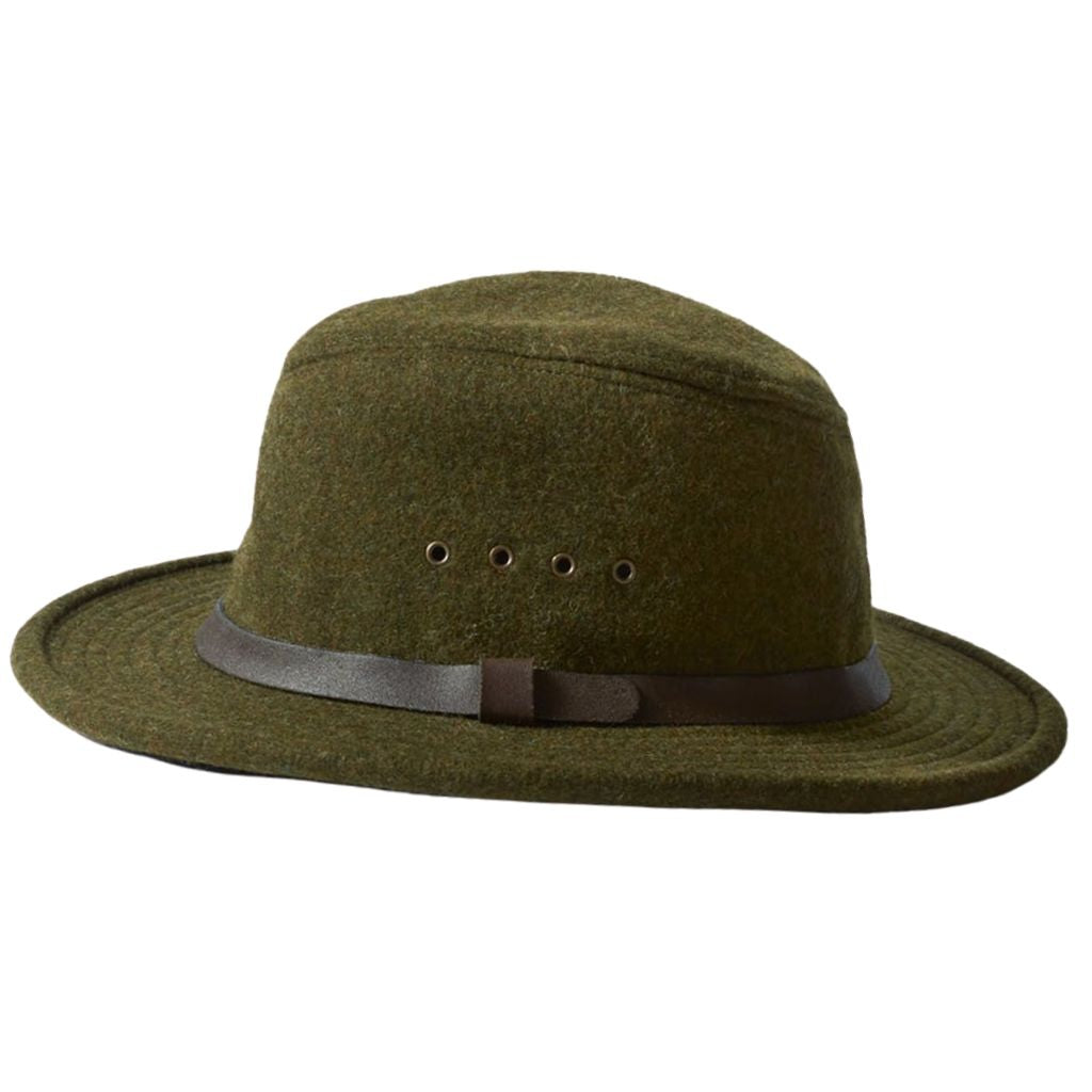 Green Filson Wool Packer Hat Oyster Bamboo Fly Rods