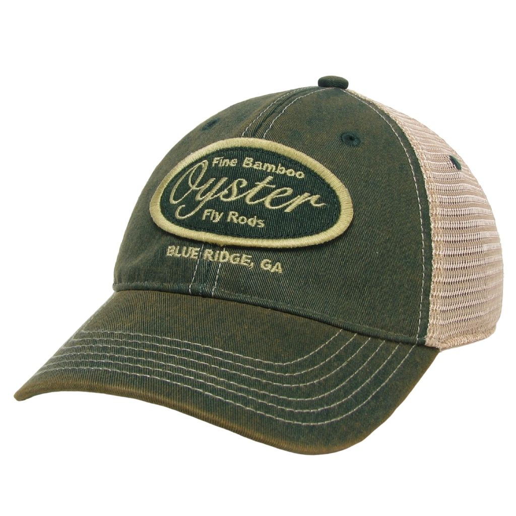 green trucker legacy old favorite oyster bamboo fly rod hat