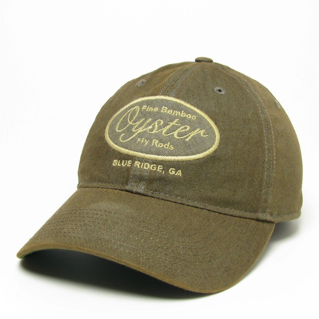 Grey 6 panel Legacy Hat Oyster Bamboo Fly Rods