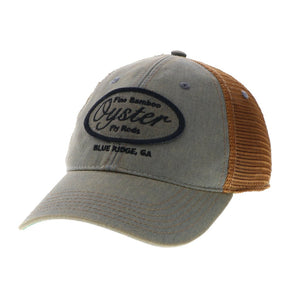 Grey and Copper Legacy Old Favorite Trucker Hat Oyster Bamboo Fly Rods