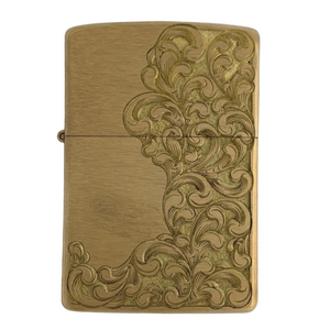 hand engraved lighter by bill oyster signature scroll
