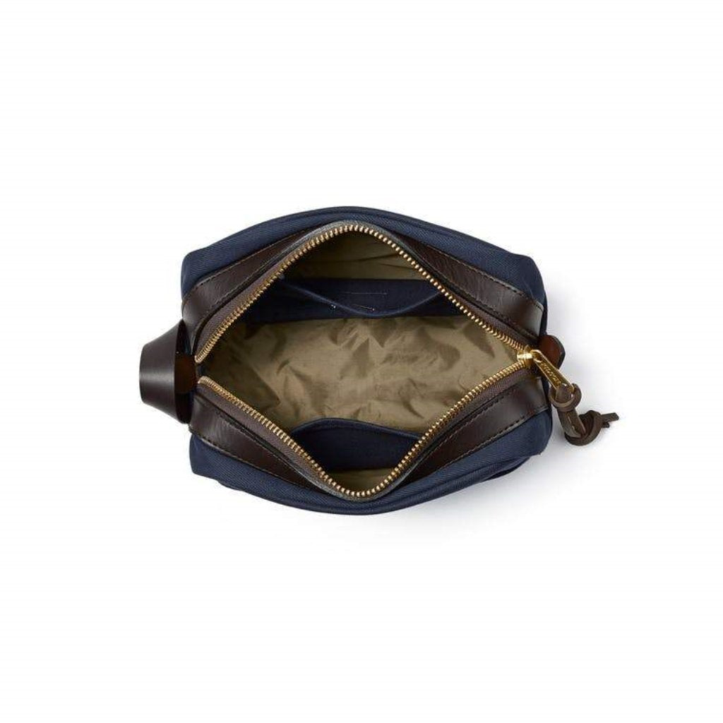 Filson Navy Travel Pack Oyster Bamboo Fly Rods