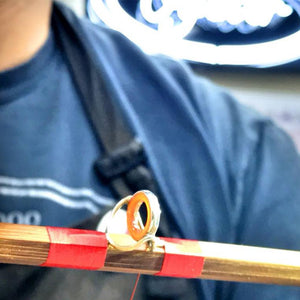 oyster bamboo fly rod making class wrapping day