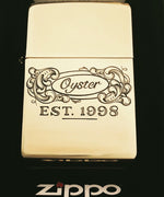 hand engraved oyster logo on zippo by bill oyster