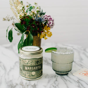 rewined margarita cocktail candle at oyster bamboo fly rods