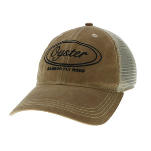 Wax khaki Legacy old favorite trucker Hat Oyster Bamboo Fly Rods