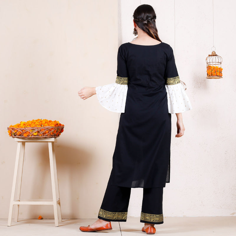 Kala Tika Kurta with Frilled Sleeves & Pants