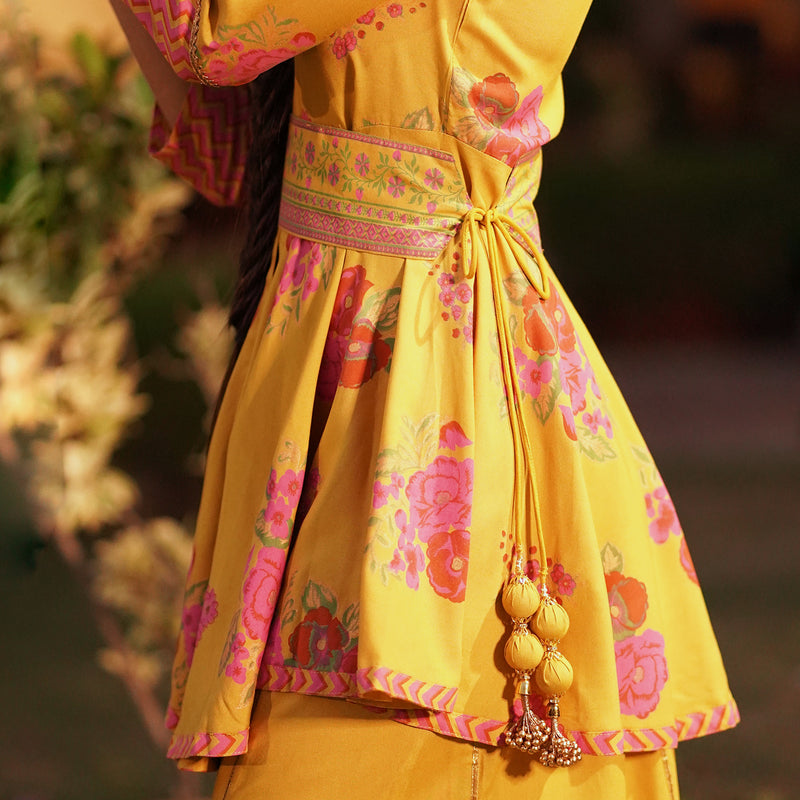 Inaayat Mustard Sharara Set