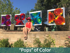 pops of color install by sondra gerber