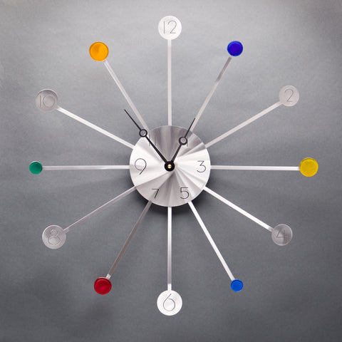 Starburst Clock - Collector Series - by Sondra Gerber - ©2019 Metal Petal Art