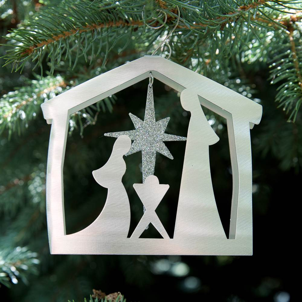 Nativity Ornament - by Sondra Gerber - ©2019 Metal Petal Art