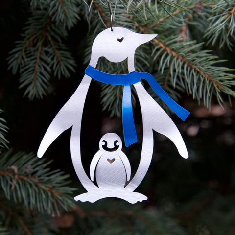 Penguin Ornament - by Sondra Gerber - ©2019 Metal Petal Art