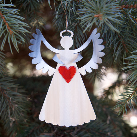 Joy Angel Ornament - by Sondra Gerber - ©2019 Metal Petal Art