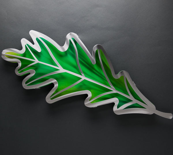 Wall Leaves - Retiring - by Sondra Gerber - ©2019 Metal Petal Art