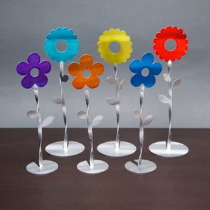 Dancing Flowers - Set of 6 - by Sondra Gerber - ©2019 Metal Petal Art