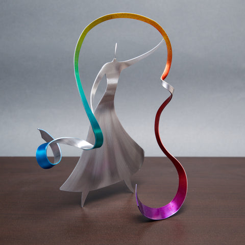 Ribbon Dancer - by Sondra Gerber - ©2019 Metal Petal Art