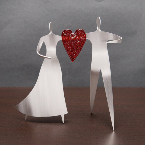 Dancing Couple with Heart - by Sondra Gerber - ©2019 Metal Petal Art