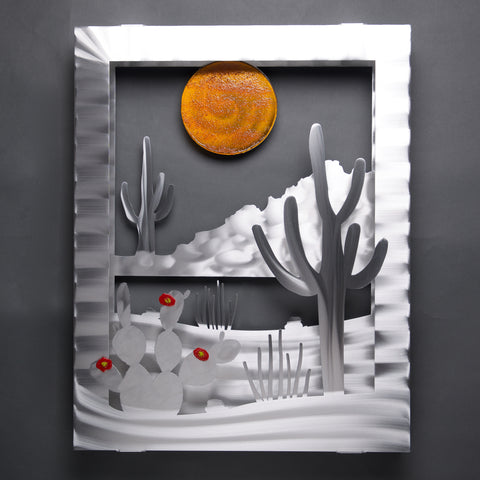 Desert View - Retiring - by Sondra Gerber - ©2019 Metal Petal Art