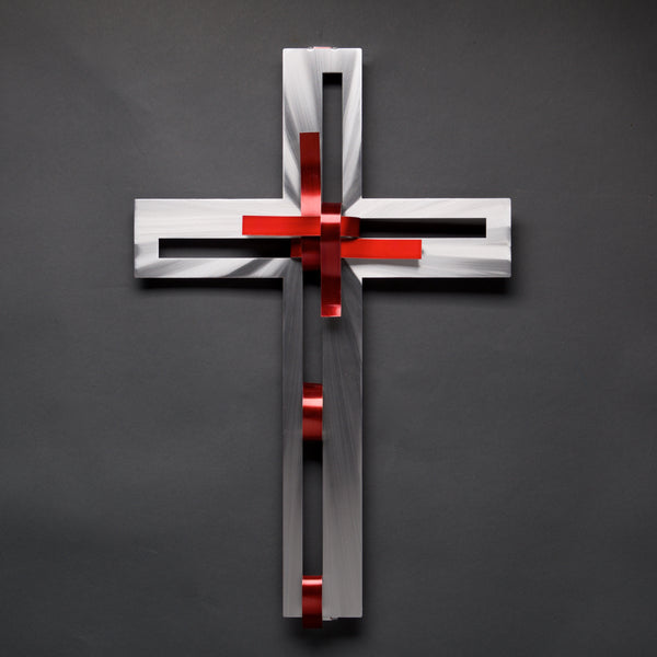 NEW- Ribbon Cross - by Sondra Gerber - ©2019 Metal Petal Art