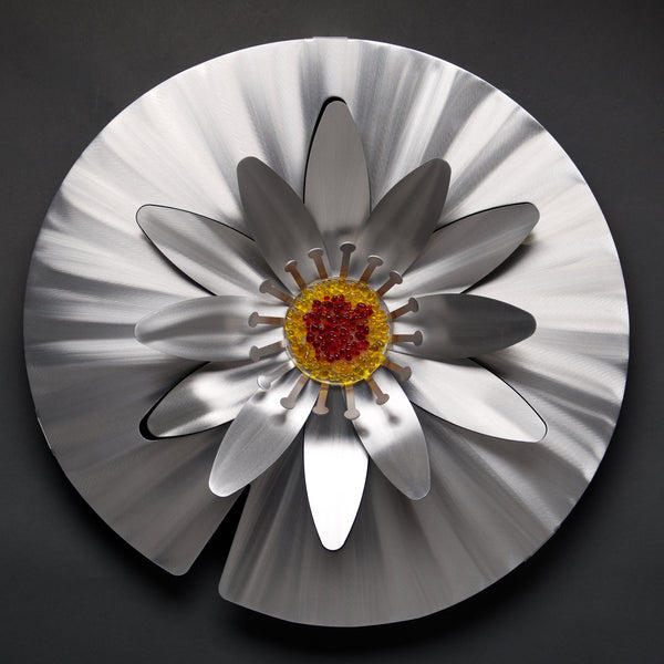 Water Lily - Retiring - by Sondra Gerber - ©2019 Metal Petal Art