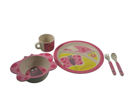 BAMBOO STUDIO BAMBOO KIDS 5 PIECE BETTY THE BUTTERFLY DINNERWARE SET