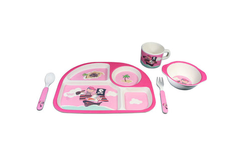BAMBOO STUDIO KIDS 5 PIECE PINK PIRATE