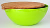 "Yumi Nature+ 12"" Green Salad Bowl w/ Bamboo Cover"
