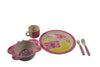 Bamboo Studio Babies/Kids/Toddlers Bamboo Dinnerware Set, Betty the Butterfly, Set of 5