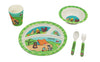 Bamboo Studio Babies/Kids/Toddlers Bamboo Dinnerware Set, Camping, Set of 5
