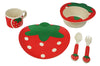 Bamboo Studio Babies/Kids/Toddlers Bamboo Dinnerware Set, Sassy Strawberry, Set of 5