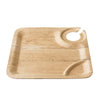 Bamboo Studio 9in Square Bamboo Wine Plate 8/pk