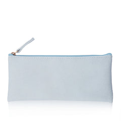 1 Piece Classic PU Pencil Bag Business Style Makeup Pouch Pen Bag-Black, Orange, Pink, Blue Color School Supplies