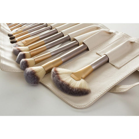 12 Piece Make Up Brush Set - Champagne Gold