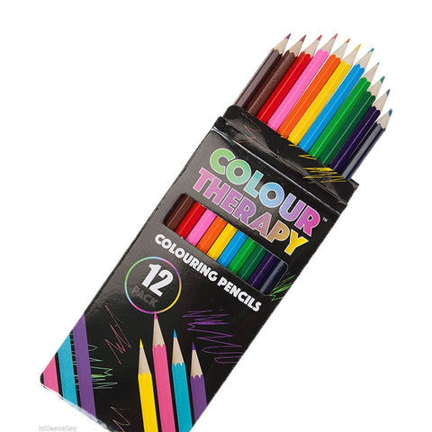 Colour Therapy Anti Stress Colouring Pencils - 12 colours