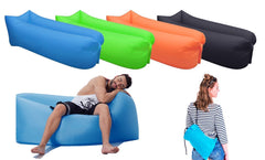 LAZYBG - Inflatable Lounger Air Lounger Couch Chair Lazy Lay Bag Blow up Bag Outdoor Hangout Travel Camping Beach Sofa Bed Couch Bag