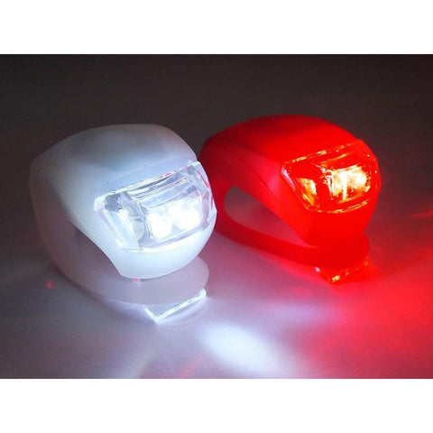 LED Bike Flashers with 3 Lighting Functions (Set of 2)-Multi Coloured