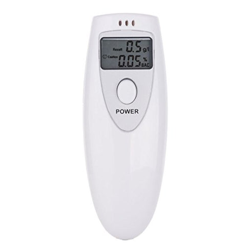 KF-103AT Alcohol Tester Portable Professional LCD Screen Digital Breath Analyzer Home Breathalyzer Detector