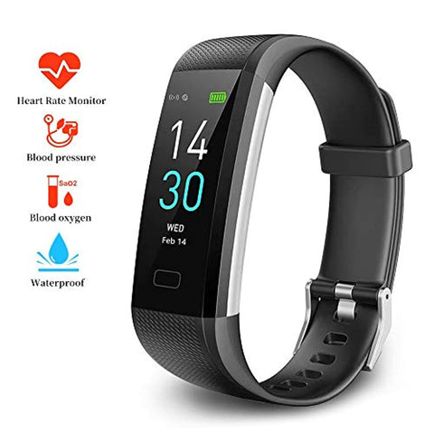 SMBR -  Fitness Tracker HR, S5 Activity Tracker Watch with Heart Rate Monitor, IP68 Waterproof Pedometer and Smart Bracelet with Sleep Monitor Calorie Counter Pedometer Watch for Kids Women Men