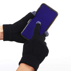 TEX1648 - 2 Pairs Men's Winter Touch Screen Magic Gloves Warm Knit Gloves Typing Texting Gloves