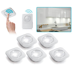 Wireless LED Puck Light 5pc-White