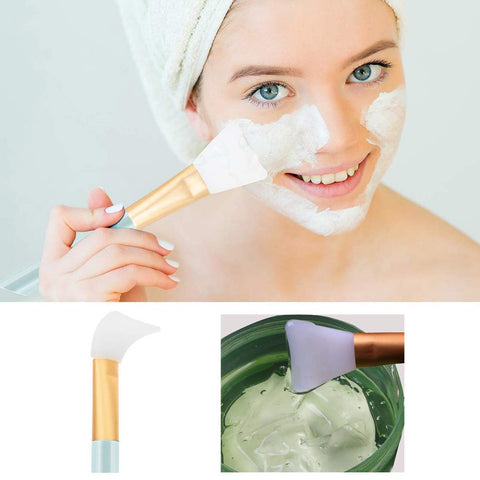 SFMB -  Face Mask Brush, Hairless Silicone Cosmetic Scrapers, Facial Applicator Brushes for Applying Facial Mask, Eye Mask, Serum or DIY Needs