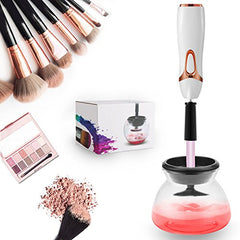 Define Beauty Makeup Brush Cleaner and Dryer Machine, Completely Clean in Seconds and Dry in 360 Rotation with 8 Rubber Holders, Suit for All size Makeup Brushes