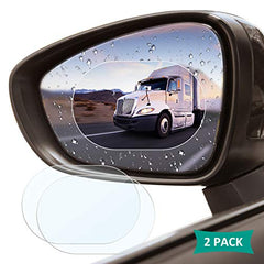 CWMIRR-FILM - Car Rearview Mirror Protective Film, 2 Pack Waterproof Rainproof Rear View Mirror Film - Suitable for All Automobile & Vehicle Models