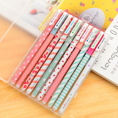 5Pcs / Lot New Cute Cartoon Color Gel Pen Set Kawaii colored pen Refill Korean Stationery Creative Gift School Supplies